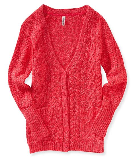 womens cable knit sweaters aeropostale womens cable knit button up cardigan sweater