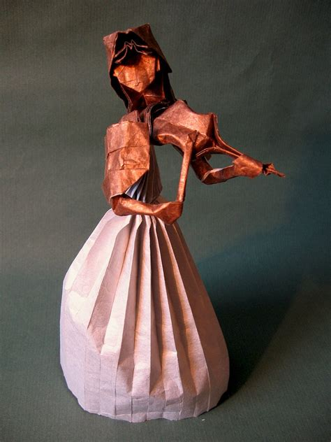 origami violinist take a minuet to look at this amazing themed origami