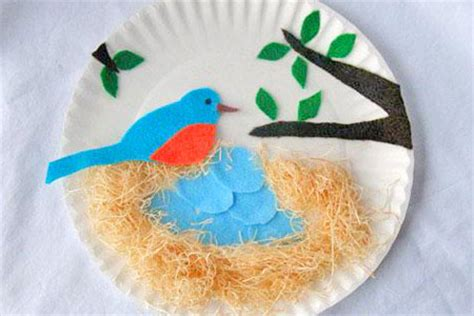 arts and crafts paper plates robinage arts and crafts paper plate bluebird nest