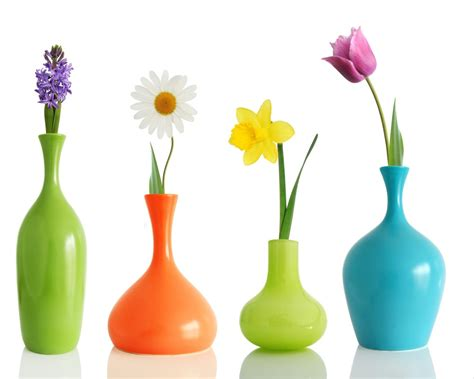 coloured for vases colorul flower vases colorful flowers in different