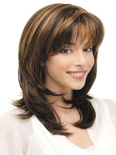layered medium lenght hair with bangs medium layered haircuts with bangs 2014