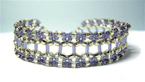 bugle bead patterns trellis bracelet