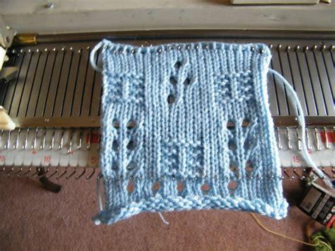 machine knitting patchwork machine knit design