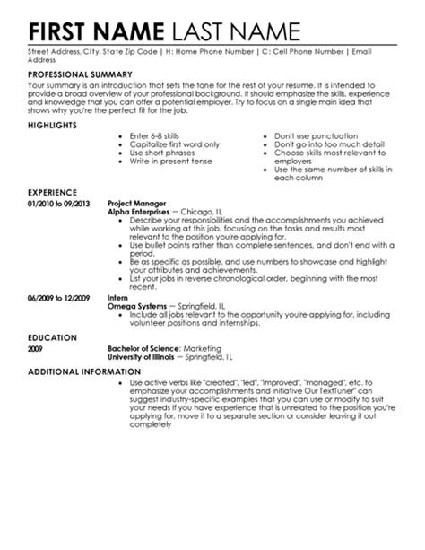 perfect resume outline 30 free professional resume templates download