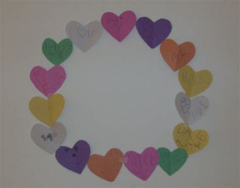 paper hearts craft s day craft paper conversation