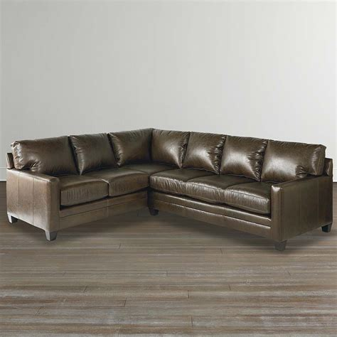 custom leather sectional sofa cocoa custom leather l shaped sectional