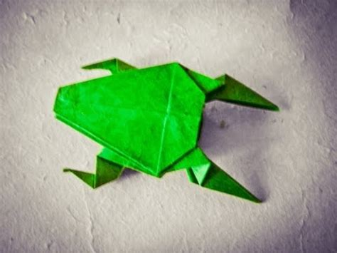 cool easy origami how to make an easy origami frog hd