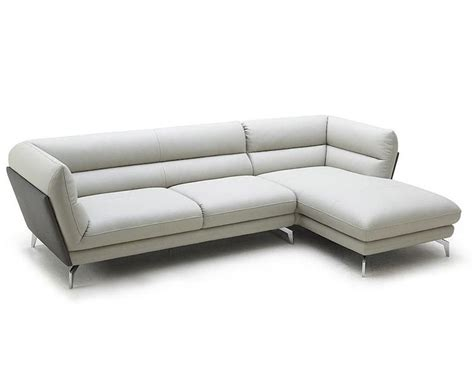 contemporary eco leather sectional sofa 44l5996