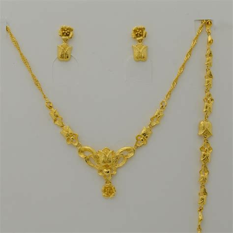gold for jewelry 24k set jewelry for gold plated charm flower
