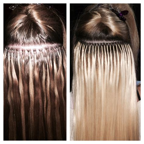 how to care for micro bead hair extensions before and after photos