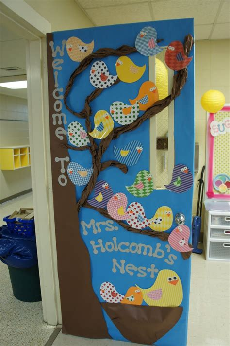 door decoration ideas for classroom welcome to our nest classroom door decoration idea with