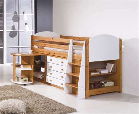 pine mid sleeper bunk bed