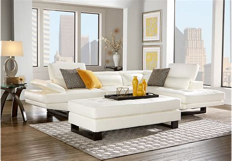 nagoya white 3 pc sectional living room living room sets