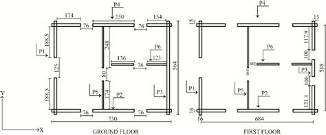 floor plans with measurements floor plans of the log house all dimensions in cm scientific diagram