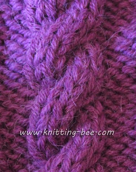 c6b knitting simple rope cable knitting pattern knitting bee