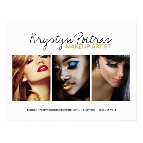 how to make a comp card fully customizable makeup artist comp card postcard zazzle