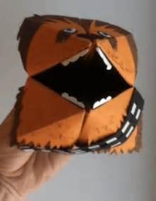 origami chewbacca jedi paper tricks starwars