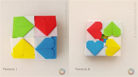 origami cube step by step origami hearty cube origami tutorials