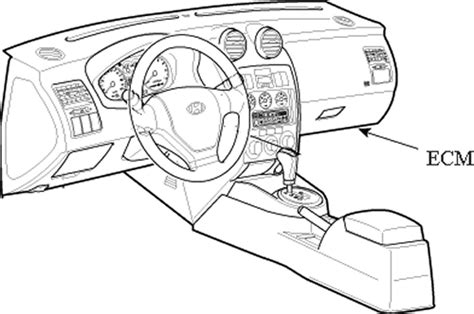buy car manuals 2001 hyundai sonata transmission control repair guides component locations electronic control module autozone com