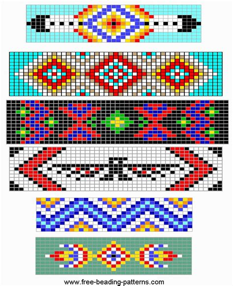 free printable seed bead patterns free loom beading patterns images