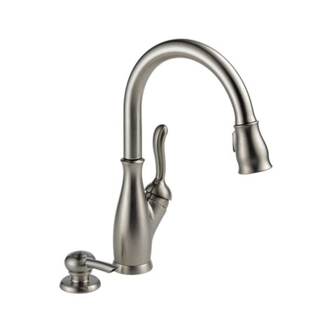 kitchen sink faucets at lowes kitchen leland kitchen single handle pull faucet