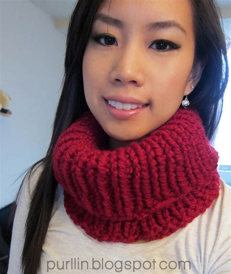 how to knit cowl neck scarf purllin knit cowl neck warmer free knitting pattern