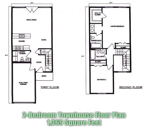 townhome floor plan home ideas