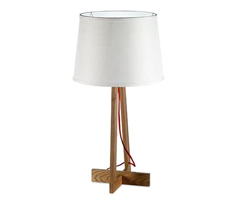 Home Design Outlet bellissima lampada da tavolo in legno modello maiko