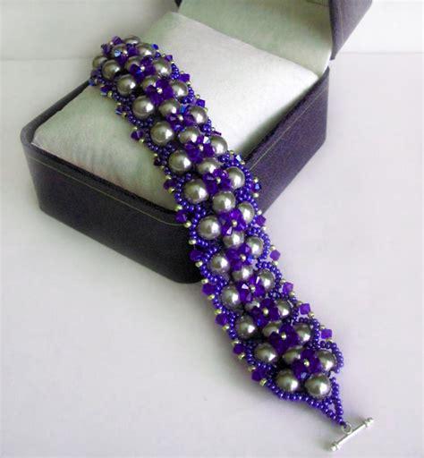 beaded bracelets patterns free pattern for beautiful beaded bracelet royal violet