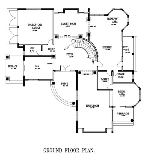 ground floor plan building floor plans by house plan for all africa