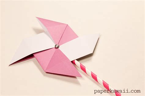 how to make a origami pinwheel traditional origami pinwheel tutorial paper kawaii