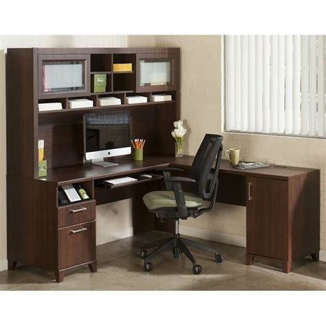 office desk with hutch l shaped bush achieve l shape home office desk with hutch in sweet