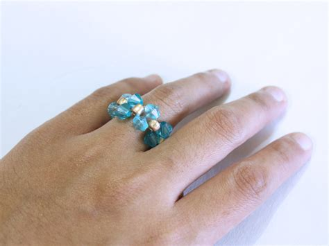 how to make a beaded ring how to make a bead ring 6 steps with pictures wikihow