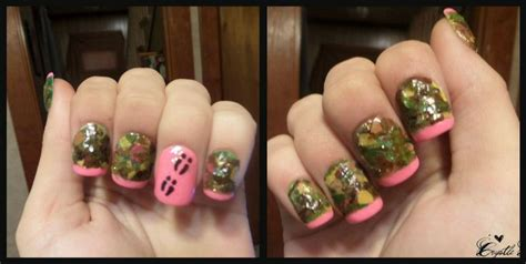 real tree tips realtree camouflage nail done with all real leaves