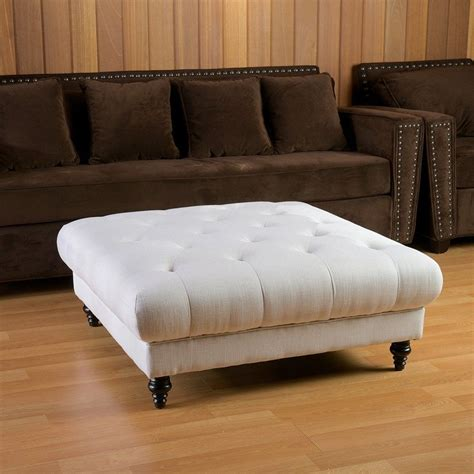 white leather ottoman coffee table living room leather ottoman coffee table with coffee