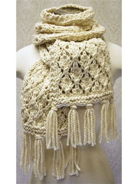 knit and crochet now episodes free knit pattern this chunky lace scarf