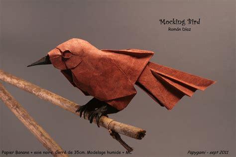 origami mockingbird 25 beautiful origami birds 21 is especially impressive