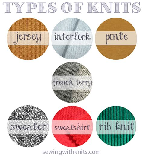 types of knits start here