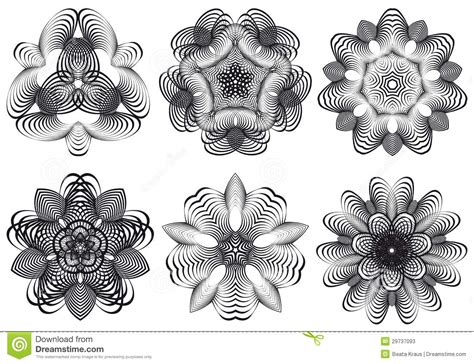 abstract geometric flowers vector stock photos image