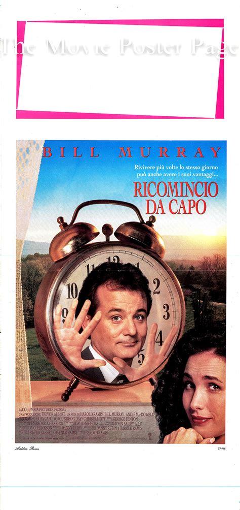 Groundhog Day 1993 Bill Murray Italian Locandina F