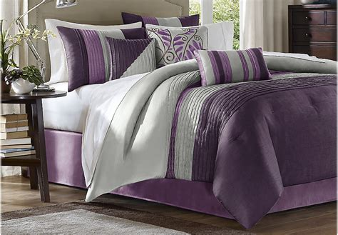 king linens comforter sets brenna purple 7 pc king comforter set king linens