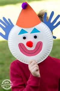 clown paper plate craft paper plate clowns