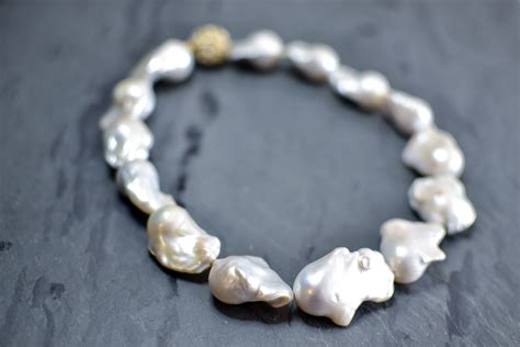 freshwater pearls for jewelry large white baroque freshwater pearl necklace luxury lustre