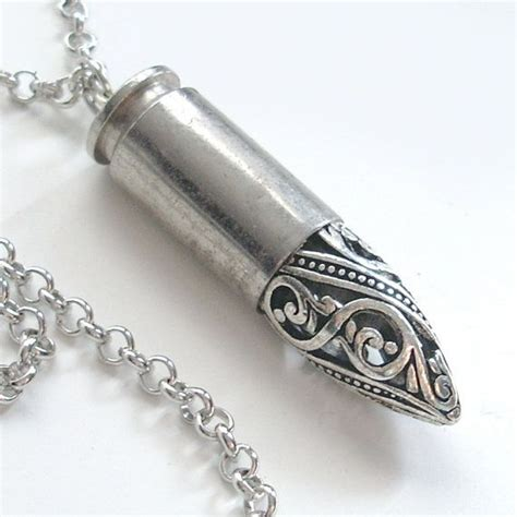 how to make bullet jewelry silver filigree bullet necklace hippie jewelry eco