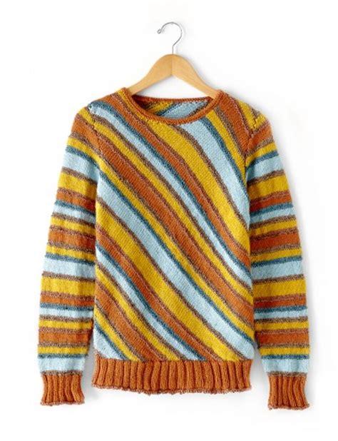 patons free knitting patterns cardigans patons diagonal stripes sweater free knitting pattern