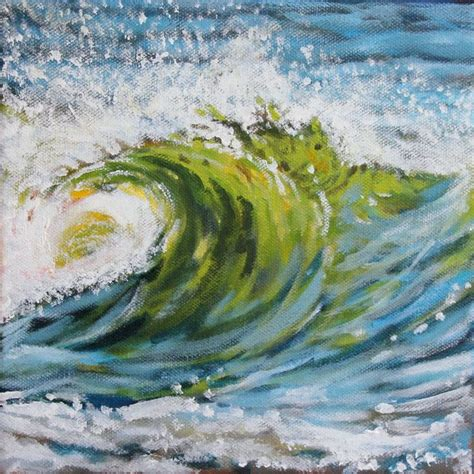 acrylic painting waves wave acrylic painting by maine artist tricia