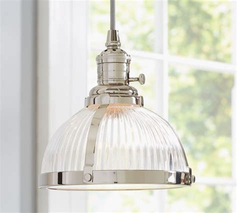 kitchen pendant lights pb classic pendant ribbed glass industrial pendant