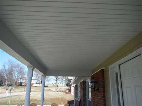 hardie beaded porch panel new custom porch ceiling built out of vinyl soffit