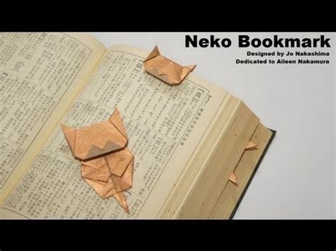 origami cat bookmark diy origami cat bookmark tutorial free origami
