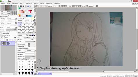 tutorial gambar anime paint tool sai tutorial paint tool sai tutorial mewarnai anime di paint
